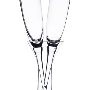 Long Stemmed Toasting Glasses with Vase image