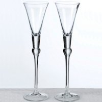 Clear Stem Tall Wedding Toast Flutes
