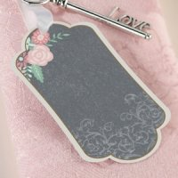 Shabby Chic Black and Pink Favor Tags (Set of 24)