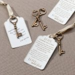 Christian Wedding Bronze Wish Key Tags (Set of 24)