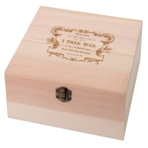 True Love Wooden Wish Card Box image