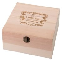 True Love Wooden Wish Card Box