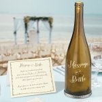 'Message in a Bottle' Wine Bottle with Decal