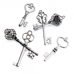 Silver Key Favors (Set of 24) image