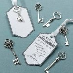 Silver Key Tags Wish Cards (Set of 24)