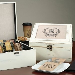 Antique White Wish Card Box (5 Personalized Designs) image