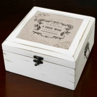 True Love Antique White Wish Box