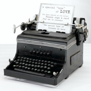 Vintage Mini Typewriter Decoration image