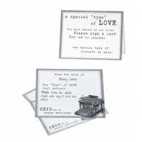 Typewriter Guest Wish Cards (Set of 48)