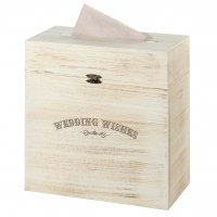 Rustic Wooden Wedding Wishes Card Box