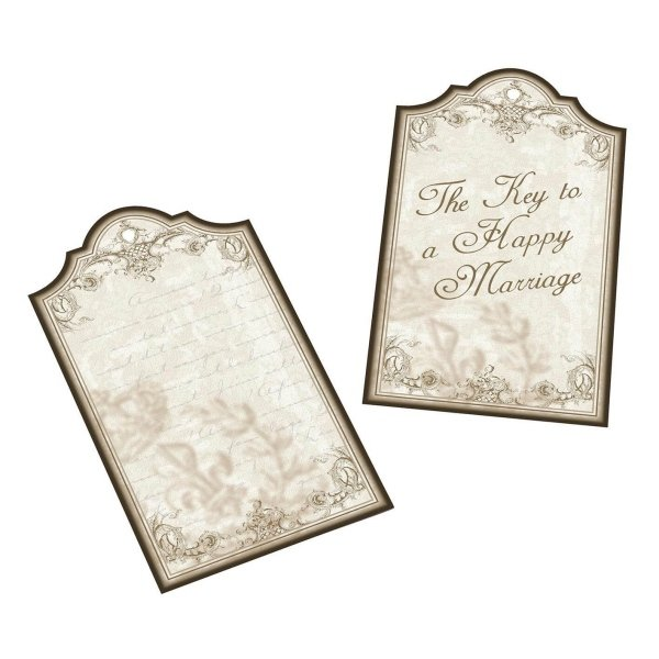 Key to a happy marriage favor tags set of 24 for What can you do with old keys
