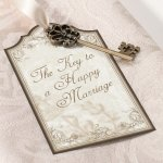 Key to a Happy Marriage Favor Tags (Set of 24)