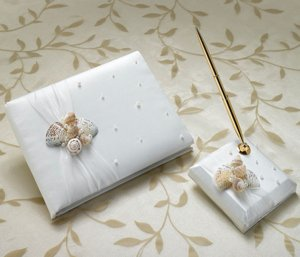 Seaside Ivory Guestbook & Pen Set image
