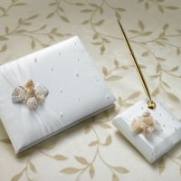 Seaside Ivory Guestbook & Pen Set
