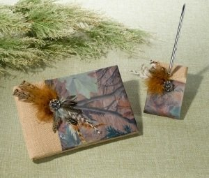 Camo Guest Book and Pen Set image