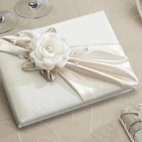 Taupe Rose Wedding Guest Signing Book