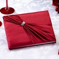 Red Sash Wedding Guest Book
