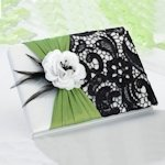 Green & Black Wedding Guestbook