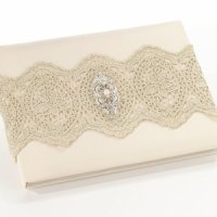 Vintage Gold Lace Guest Book