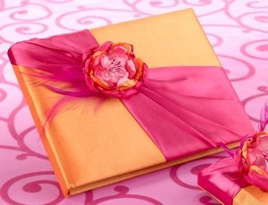 Hot Pink & Orange Guestbook image