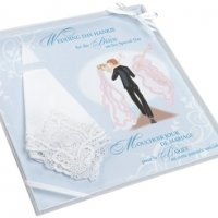 Embroidered Bride Gift Hankie