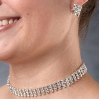 Rhinestone Band Bridal Jewelry Set