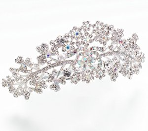 Dazzling Rhinestone Silver Plated Comb Tiara image
