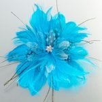 Feather Hair Clip-Aqua