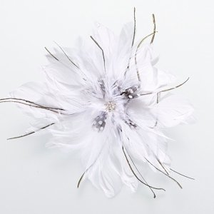 Feather Hair Clip-White image