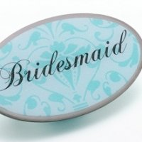 Bridesmaid Pin -Oval Aqua