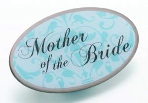 Mother of Bride Pin - Oval Aqua image