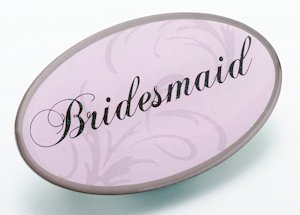 Pink Oval Bridesmaid Pin image