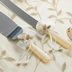 Seaside Ivory Knife & Server Set