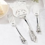 Mr. & Mrs. Silver Server and Fork Set