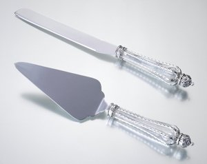 Crown Motif Cake Knife & Server Set image