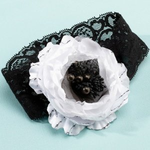 Black and White True Love Garter image