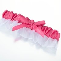 Light Pink Satin Garter