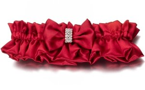 Red Sash Wedding Garter image