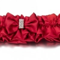 Red Sash Wedding Garter