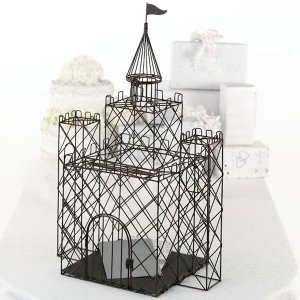 Metal Castle Wedding Card Holder image