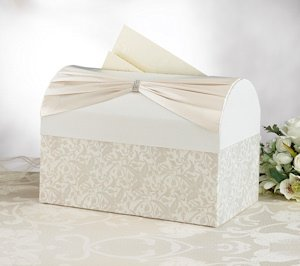 Ivory Sash Wedding Reception Card Holder image