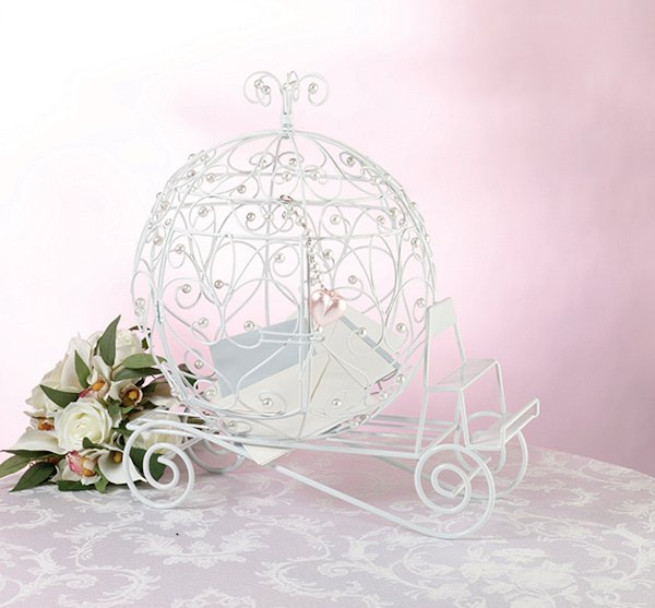 Fairy Tale Carriage Wedding Gift Card Holder : Fairytale Coach Card Holder