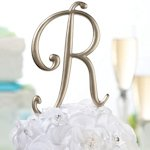Gold Monogram Letter Wedding Cake Topper Pick