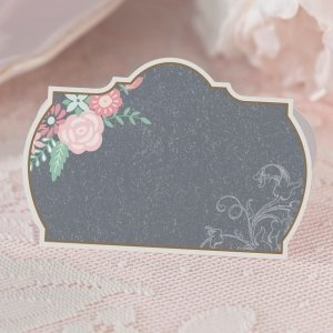 Shabby Chic Black and Pink Place Cards (Set of 24) image