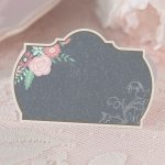 Shabby Chic Black and Pink Place Cards (Set of 24)