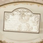 Vintage Scroll Gold Place Cards (Set of 24)