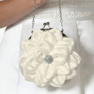 Flower Purse - White image