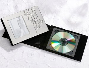 Silver Butterfly Wedding DVD Holder image