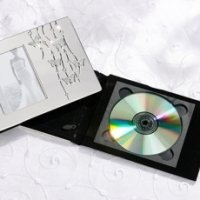 Silver Butterfly Wedding DVD Holder