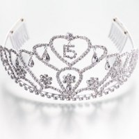 Large Quince Anos Tiara Clear